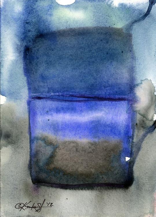 Watercolor Abstraction No. 209 - Image 0