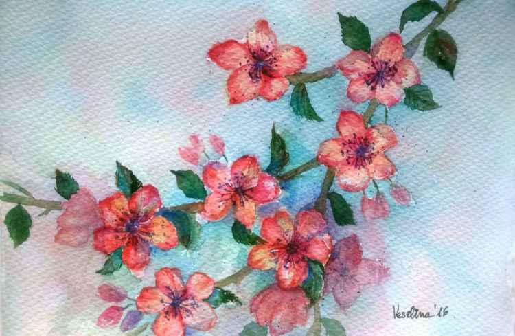 Floral painting watercolour -