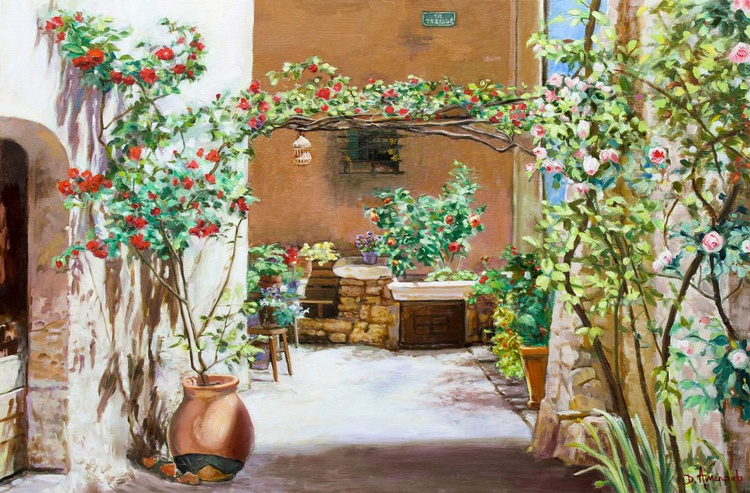 Climbing Roses in La Treille Courtyard - Image 0