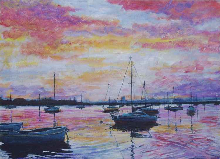 Cosham Harbour Sunset -