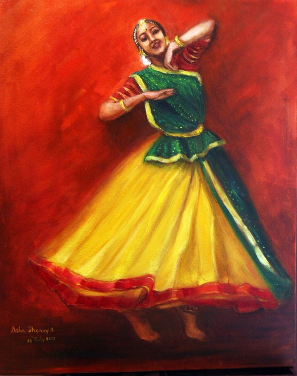 Radha's joyful dance - Image 0