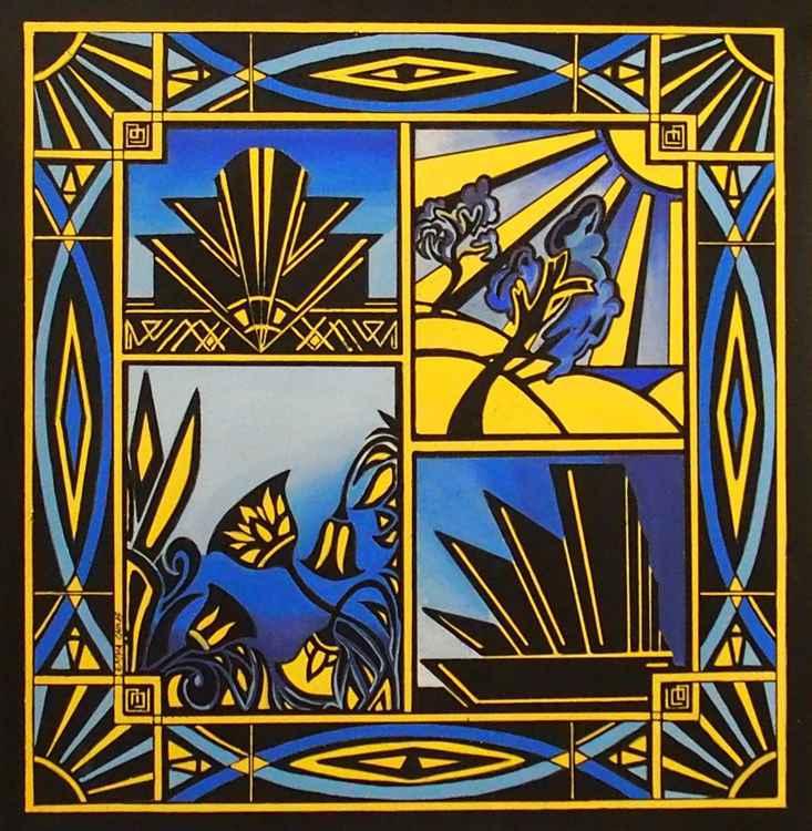 Art Deco In Blue