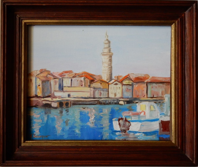 Cityscape with boat - Image 0