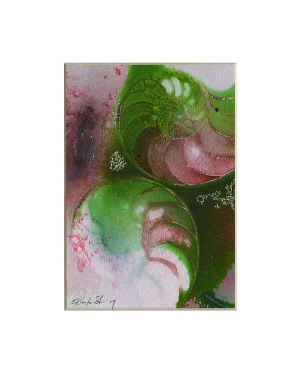 Sea Shell Watercolor Painting, Ocean - Nautilus Shell No. 932
