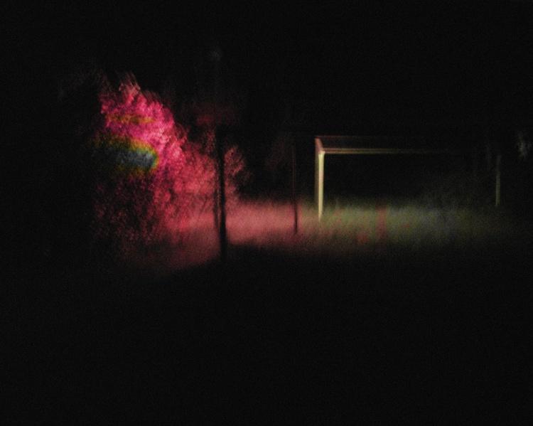 night romance near apartment courtyard - Image 0