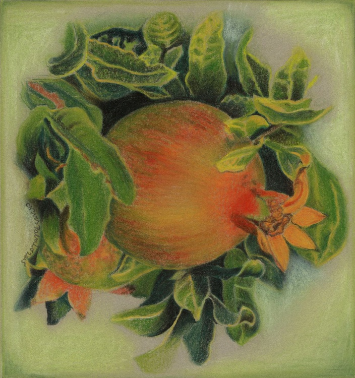 POMEGRANATE IN LEAVES - Image 0