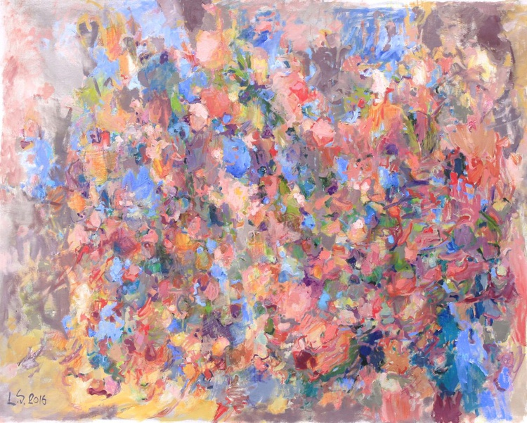 La Vie en Rose - Extra Large Abstract Painting - Image 0