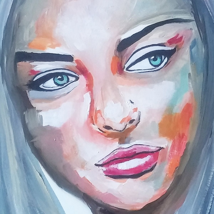 Clare, oil painting on canvas textured paper - Image 0