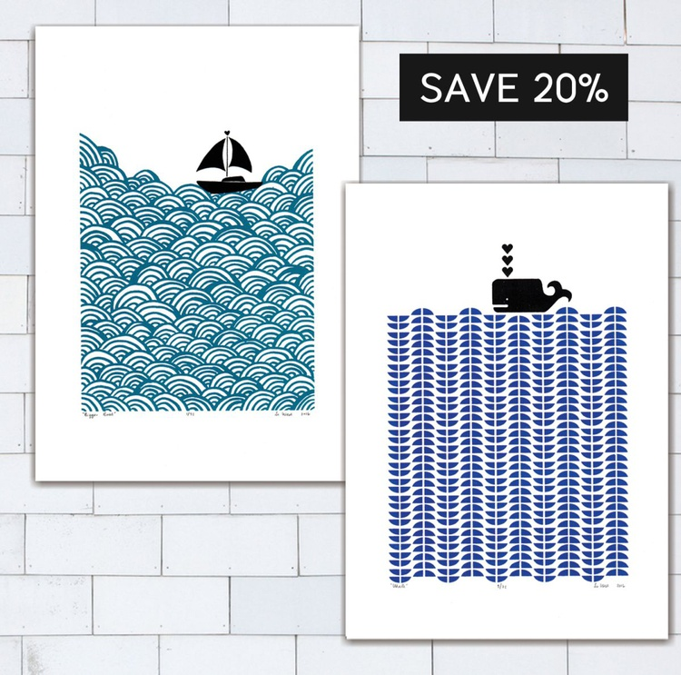 2 x A3 size Unframed Print Bundle - SAVE 20% for Worldwide Delivery - Image 0