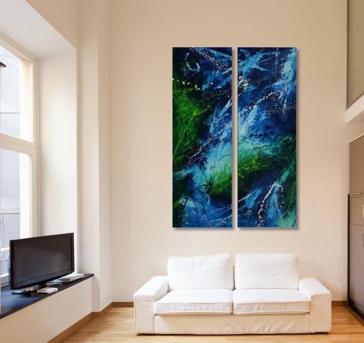 Mountain Stream Fairy (Diptych: 2x 120x40cm) - Image 0