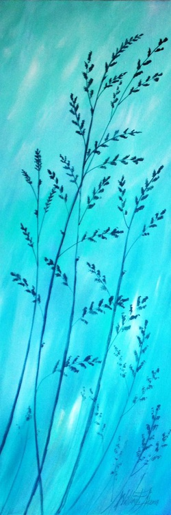 Turquoise Fields - Abstract - Image 0