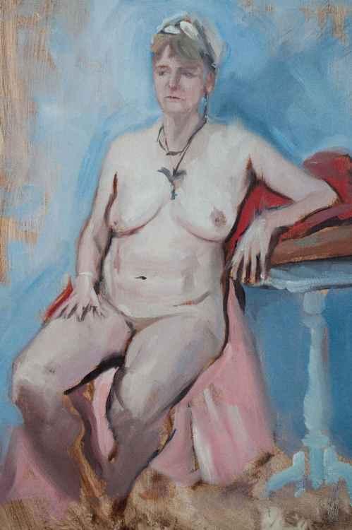 Sitting Nude Study -