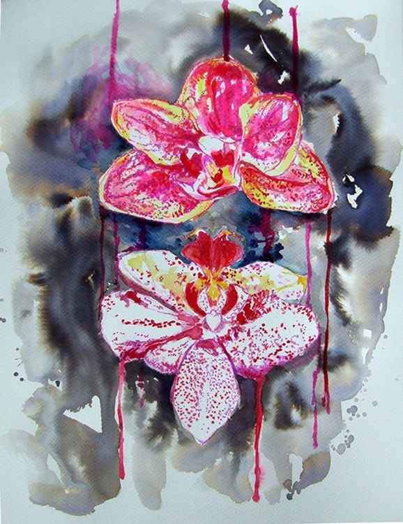 Orchids/ Watercolour -