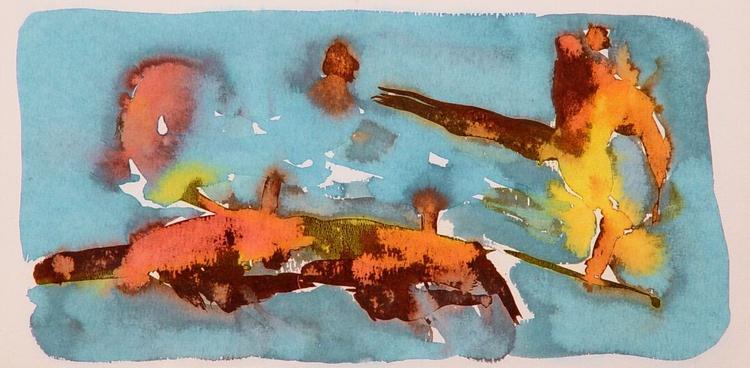 On the Cezanne Island #9, 40x20 cm - Image 0