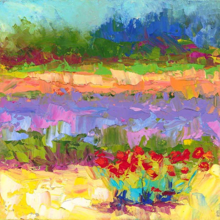 Color Play - abstracted lavender and poppies - Image 0