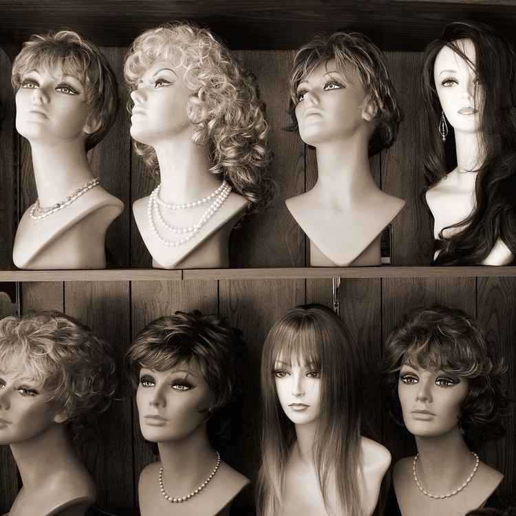 Wigs in Window -