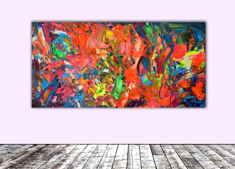 Phosphorus Dischromy nr. 1 - 100x50 cm - Large Painting - Ready to Hang, Office, Hotel Wall Decor - Image 0
