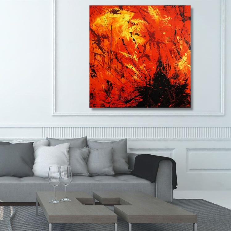Pyromania (90 x 90 cm) - Image 0