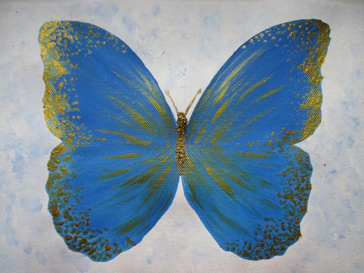 Golden-blue butterfly - Image 0