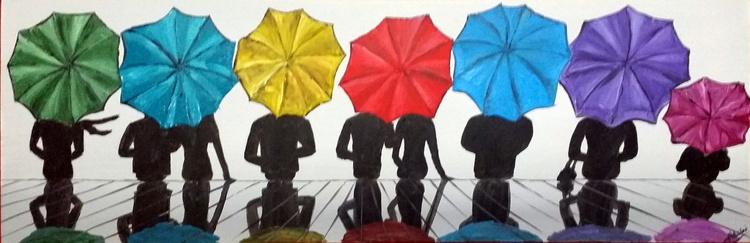 Line Of Umbrellas 5 - Image 0
