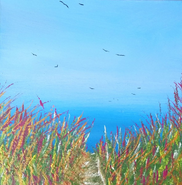 Dawn Chorus - Great gift for Beach Lovers; Modern Art Office Decor Home Seascape - Image 0