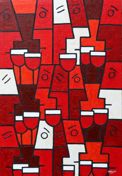 Red Wine with Friends - Image 0