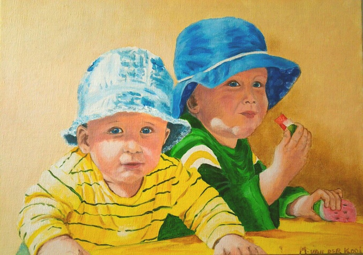 """BEST FRIENDS"", 33×24cm - Image 0"
