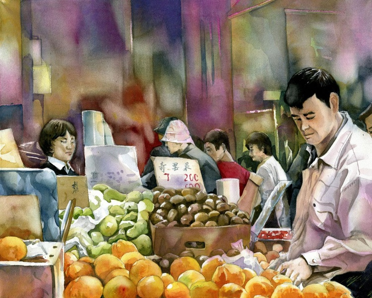 Shopping for Oranges for the Chinese New Year - Image 0