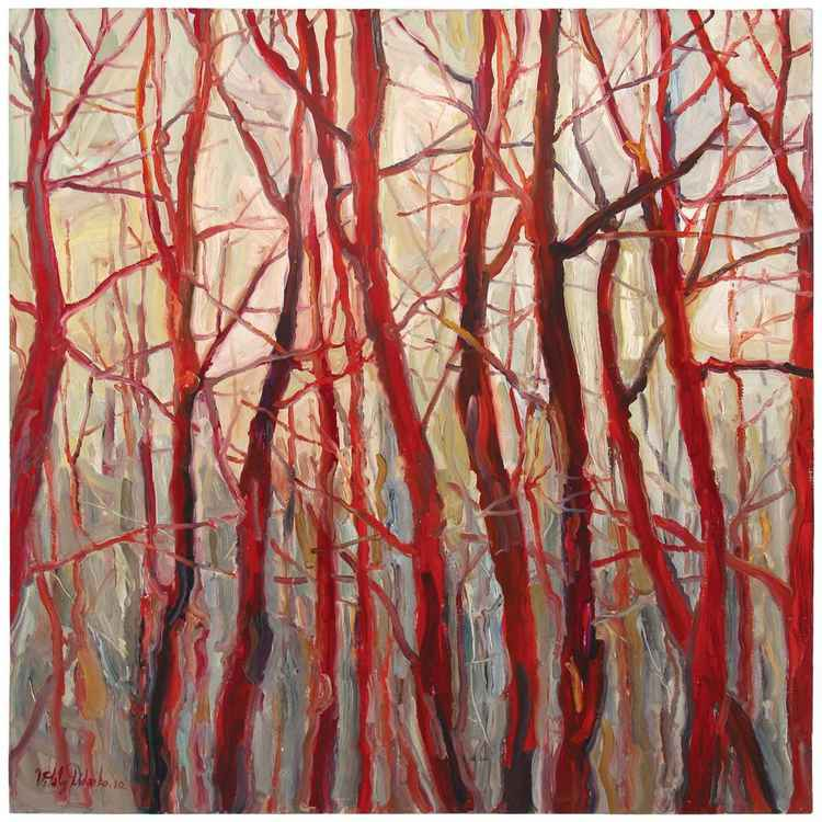 Red Wood  (95x95cm)