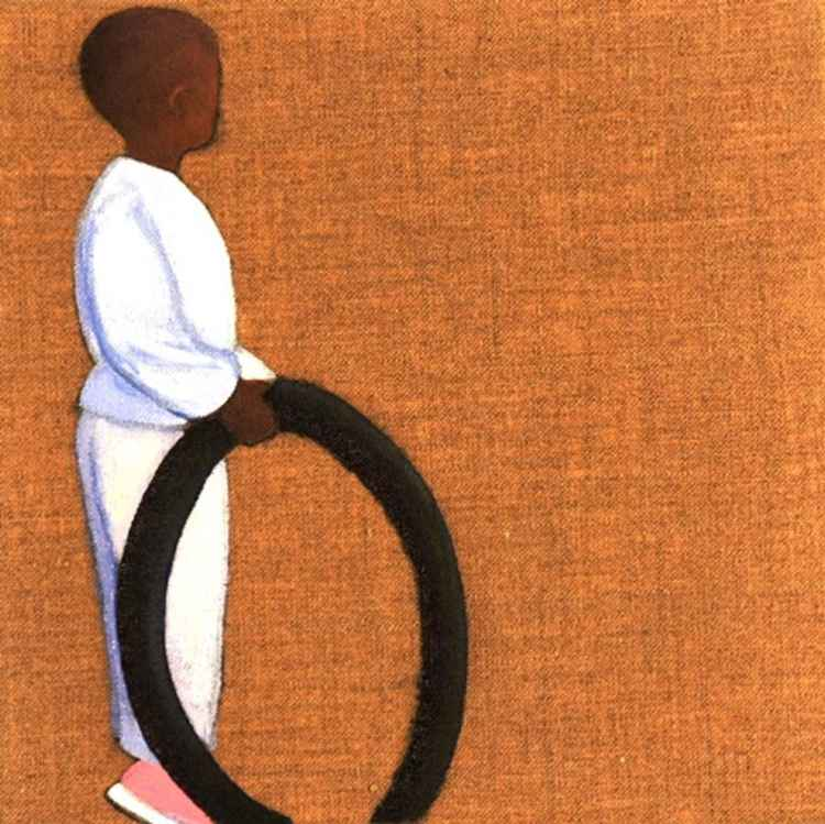Africa Journal: Boy with Tyre 1 -