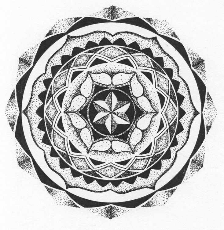 ROTATE - Dotwork Mandala - Image 0