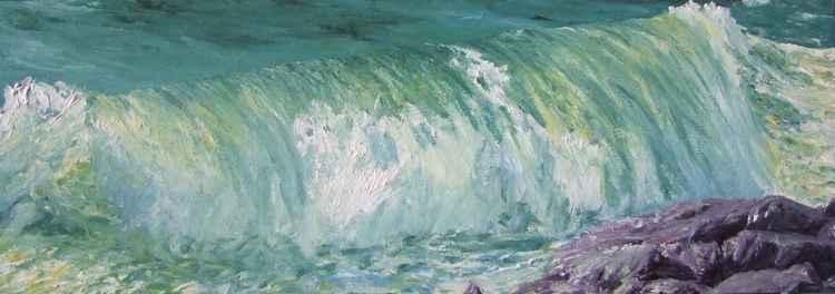 Wave breaking on the pier