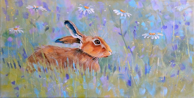 Hare and Daisies - Image 0
