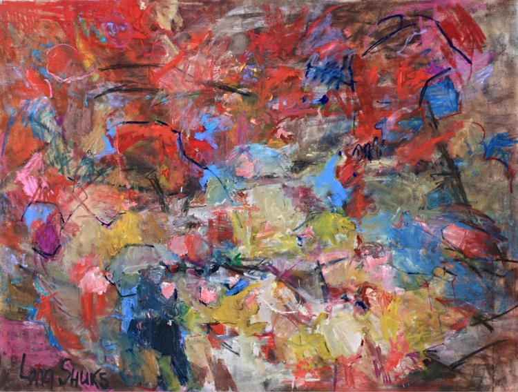 Strawberry on Top - Abstract Painting - Image 0