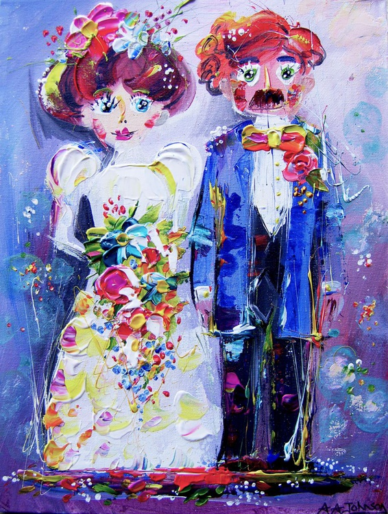"Wedding art - ""The Blushing Groom"" - Image 0"