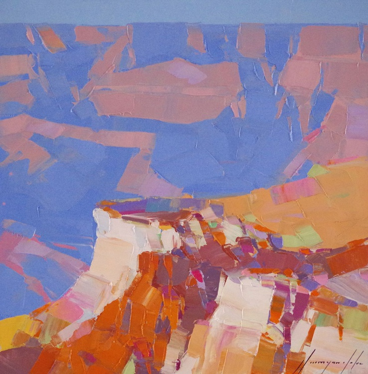 Grand Canyon, Original Landscape oil painting, One of a kind Signed Hand Painted - Image 0