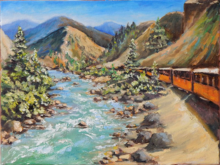 Orange train - Image 0