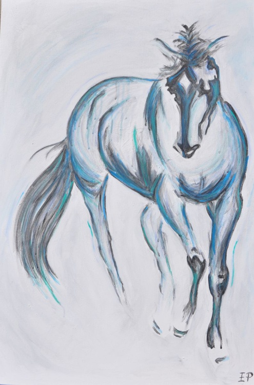 Pete V-Abstract Horse Painting-Modern Acrylic Art - Image 0