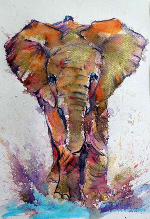 Elephant in gold