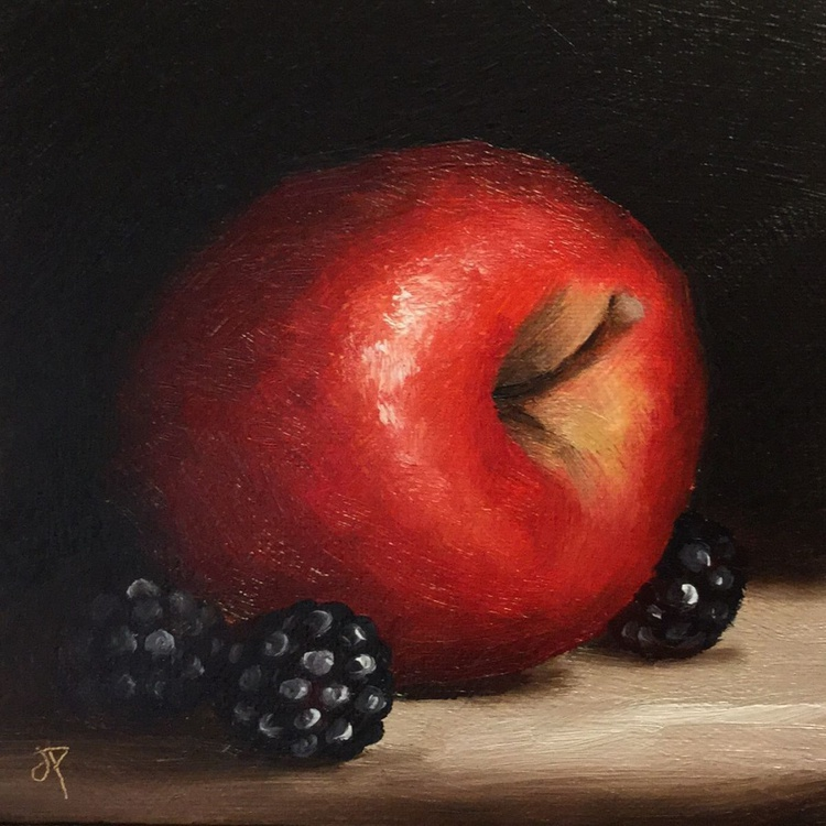 Red Apple with Blackberries 2 - Image 0