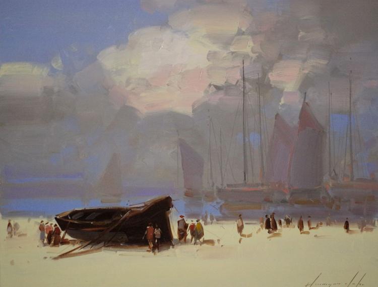 Seashore  Original oil painting  Handmade artwork One of a kind - Image 0