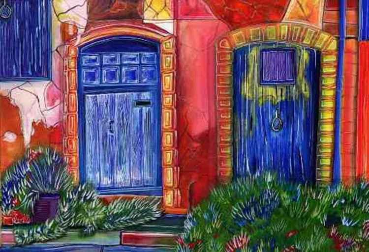 Blue Doors -