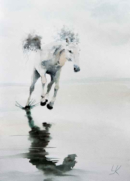 """Reflection"", original watercolour painting, 11.2""x15.2"" (28x38 cm) -"