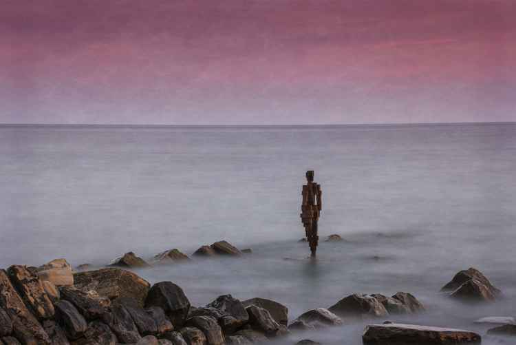 Antony Gormley statue, Kimmeridge Bay, Dorset -