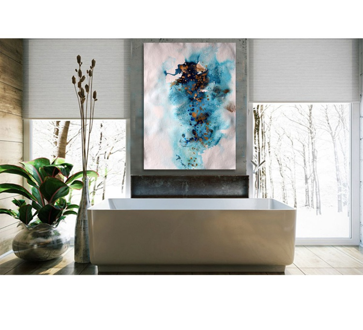 Blue feelings II / 76 cm x 56 cm - Image 0
