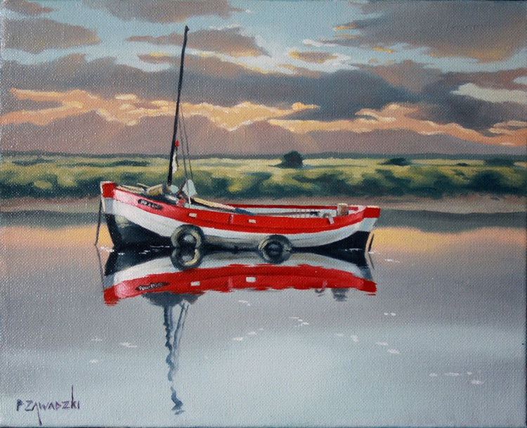 Red and Blue Boat - Image 0