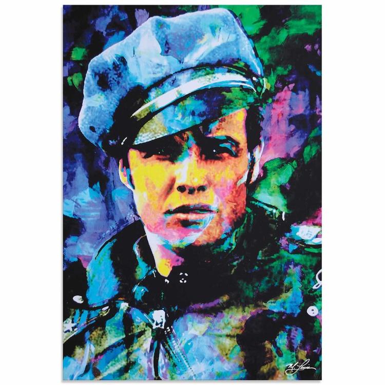 Mark Lewis 'Marlon Brando Whadda Ya Got' Limited Edition Pop Art Print on Metal - Image 0