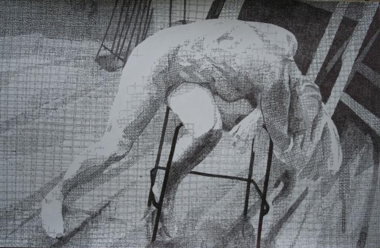Slumped Figure-Squared - Image 0