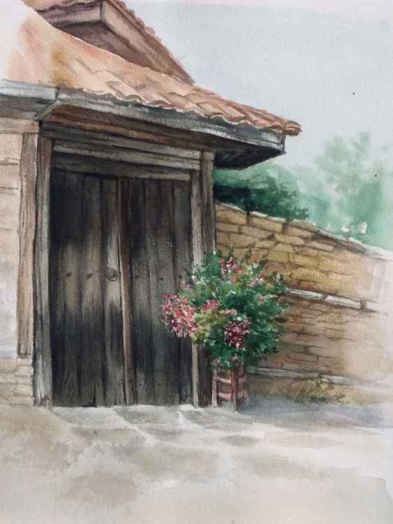 Gate in village Medven -