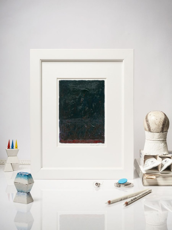 So Close, Modern Black Painting, Oil on Canvas - Image 0